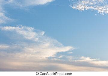藍色, 天空, 白色, 云霧, 天