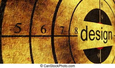 Design target grunge concept