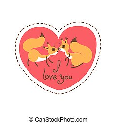 Card Happy Valentines Day. Valentine heart shaped with...