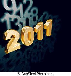 Golden New Year 2011 calender