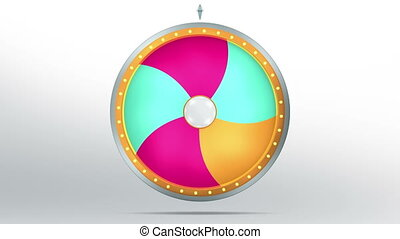 lucky spin twirl five color 4K - Lucky spin represent the...