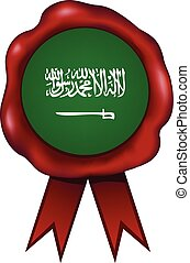 Saudi Arabia Wax Seal - Saudi Arabia wax seal.