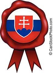 Slovakia Wax Seal - Slovakia wax seal.