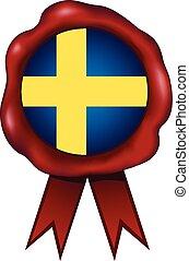 Sweden Wax Seal - Swedish wax seal.