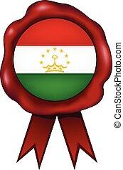 Tajikistan Wax Seal - Tajikistan wax seal.