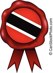 Trinidad And Tobago Wax Seal - Trinidad and Tobago wax seal.