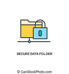 Secure data folder icon