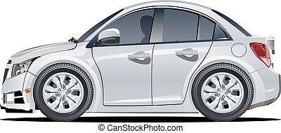 Cartoon vector car - Vector cartoon car. Available EPS-10...