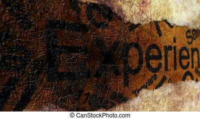Experience text on grunge background - Experince text on...