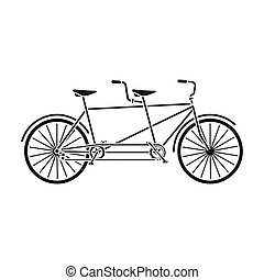 Tandem bike.Pleasure bicycle for two. Double bicycle. The...