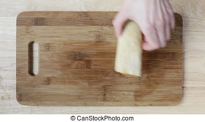 Making Tamales for Dinner - Placing Tamales on a cutting...