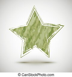 Vector illustration with grunge camouflage star
