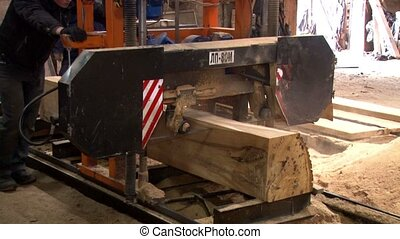 Manufacturer of wood products in the carpentry on the...