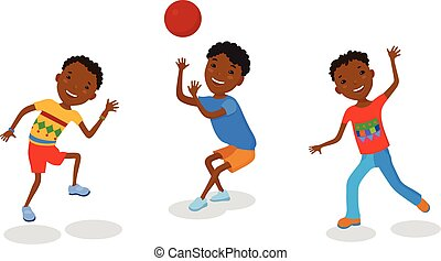 Illustration featuring playing kids