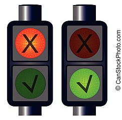 Tick Cross Traffic Lights