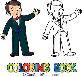 Funny singer or vocalist. Coloring book - Coloring book of...