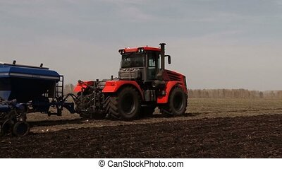 work tractor in field