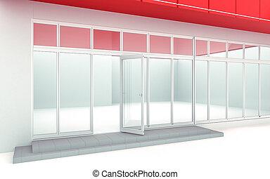 3D illustration of a store kiosk