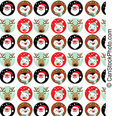Christmas wallpaper - Santa Claus, Rudolph, polar bear and...