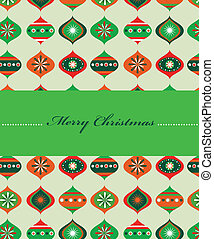 christmas card - 6 - christmas card with christmas balls,...