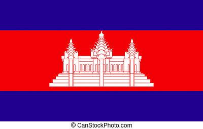 flat cambodian flag