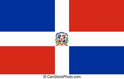 flat dominican republic flag