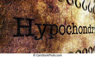 Hypochondrias disease grunge concept