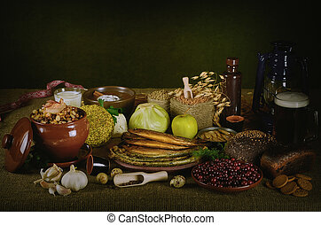 Still Life of Different Kind of Food