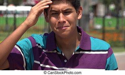Sad Crying Teen Boy