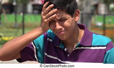 Teen Boy Crying