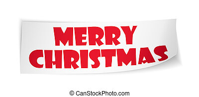 Merry Christmas greeting card template - illustration of...