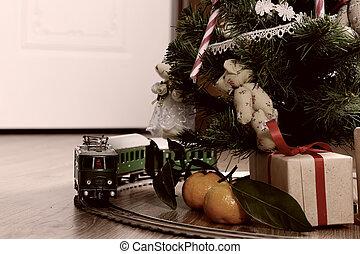 train retro toned model