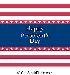 President s Day in the United States Vector illustration