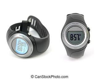 Sports Watch - A sports watch isolated against a white...