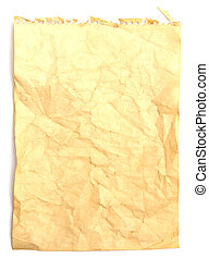 Old crumpled note paper