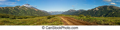 Road through the natural zone of the Vilyuchinsky pass.....