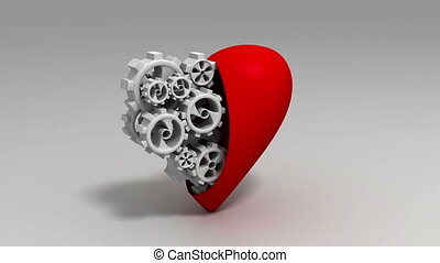 Heart and Gear Wheels Loop - Heart and Gear Wheels, Loop