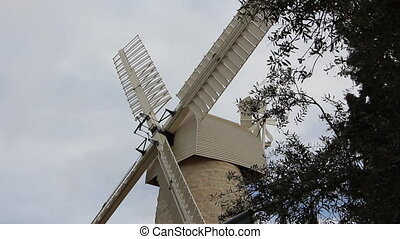Old windmill in Jerusalem - Shot of Old windmill in...