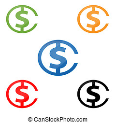 C Dolar - C with Dolar, Initial Logo Template, logo can also...