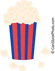 bucket full of popcorn