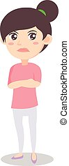 Angry mother design style character vector illustration