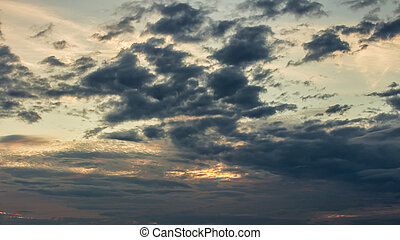 color of dramatic sky with cloud at sunset.