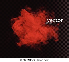 Vector illustration of smoke. Isolated transparent special...