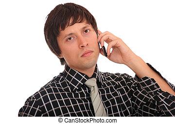young business man over the cellphone