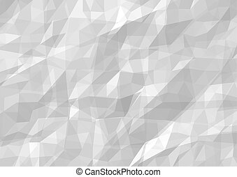 Wrinkled Paper Background - Abstract Textured Illustration,...