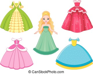 Doll Princess - Beautiful princess with dress set