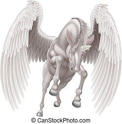Pegasus Unicorn Winged Horned Horse