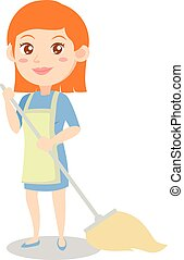 Housewife style design character cartoon