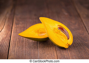 Egg fruit Canistel Yellow Sapote (Pouteria campechiana...