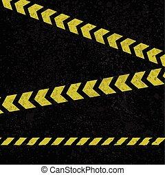 Asphalt lines background - Grunge asphalt background with...